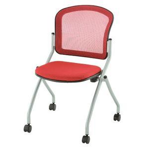 ミーティングチェア 会議椅子 キャスター付き TOKIO レッド 送料無料|garage-murabi
