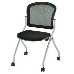 ミーティングチェア 会議椅子 キャスター付き TOKIO ブラック|garage-murabi