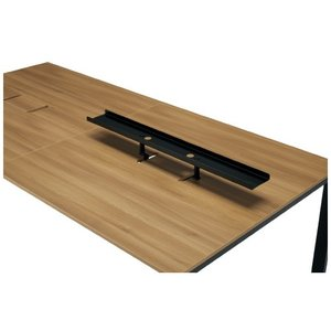 PLUS増連型テーブル用トップラック MR-R12 BK ブラック 机上棚 【送料無料】|garage-murabi
