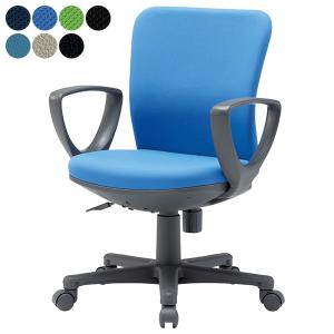 AICO 事務椅子 ローバックサークル肘タイプ デスク チェア OA-1155CJ 座W465 H875〜 3台以上で更にお安く 送料無料|garage-murabi