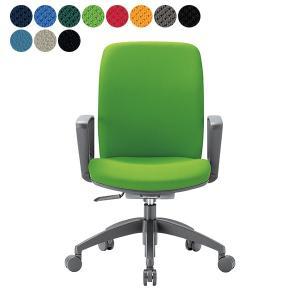 【事業所様お届け 限定商品】 事務椅子 ミドルバック サークル肘タイプ オフィス チェア OA-2135BJ W600×H895〜 3台以上で更にお安く|garage-murabi