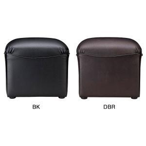 プリーダ スツール ブラック/ダークブラウン RE-1050S(V4) ビニールレザー張り W450...