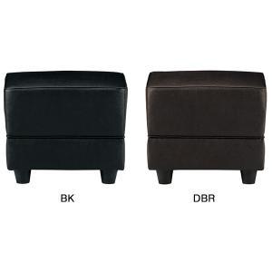 スターブ スツール ブラック/ダークブラウン RE-1740S(V4) ビニールレザー張り W450...