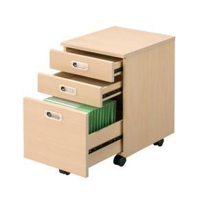 インサイドワゴン ナチュラルデスク木製平机用 RFCA-6040NJ W415×D450×H600 送料無料|garage-murabi