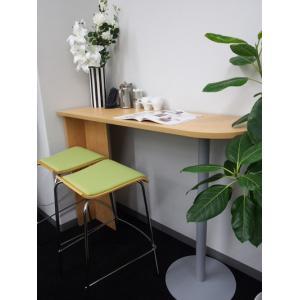 リフレッシュテーブル ハイカウンターテーブル ナチュラル 受付カウンターに接続も RFHCST-1445NA garage-murabi