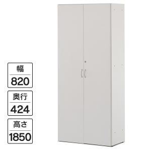 [Jシリーズ] 可動棚ハイシェルフ 全扉付き 木製収納庫 扉付き書庫 ホワイト W820×H1852mm RFHS-WJHGD J381111|garage-murabi