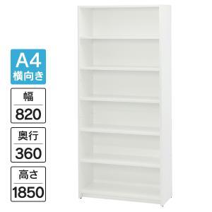 カルテラック カルテ棚 高級素材 ウッドカルテシェルフ  オープン 6段ホワイト RFMCS-6|garage-murabi