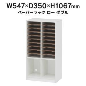 ≪期間限定・個人宅配送可≫ ペーパーラック ロータイプ ダブル RFPR-LD 20分類 書類整理 書類棚 書類収納 レターケース A4 garage-murabi
