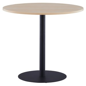 NEW リフレッシュテーブル3 φ800 ナチュラル ブラック脚 2〜4人用 丸テーブル エントランス 商談スペース ロビー RFRT3-800NA-BL|garage-murabi