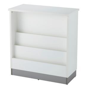 受付カウンター W900mm  業務用ハイカウンター マガジンラック型 カタログ棚 3色 SHHC-MR900WH|garage-murabi