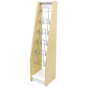 カタログスタンド シングル 木製 ナチュラル×ホワイト SHKS2-001NW  アール・エフ・ヤマカワ|garage-murabi