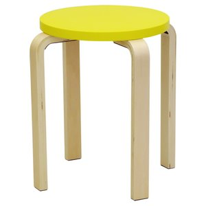 木製 丸イス 黄色 イエロー 4脚セットなら更にお安く  丸椅子 Z-SHSC-1 Z-SHSC-1YE J707129|garage-murabi