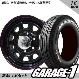 新品 デイトナ(Daytona) 16インチ 7.0J +35 215/65R16 109/107 ブラック タイヤホイール 4本セット ハイエース200系|garage1-shop