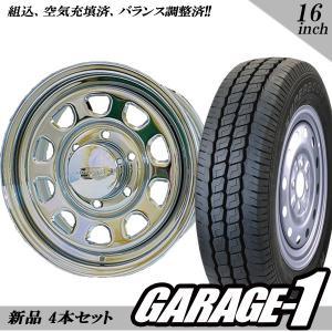 新品 デイトナ(Daytona) 16インチ 7.0J +19 215/65R16 109/107 クローム タイヤホイール 4本セット ハイエース200系/100系|garage1-shop