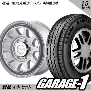 サマータイヤホイール 4本セット 5ZIGEN koma2 15インチ 6.0J +33 ハイエース 195/80R15 107/105L シルバー|garage1-shop