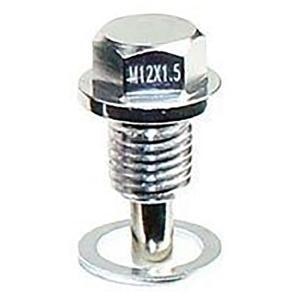 【ネコポス】ネオジウムマグネット ドレンボルトM12x1.5 オイルドレインプラグネジ ワッシャー付...