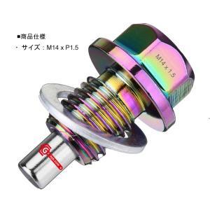 【ネコポス】ネオジウムマグネット ドレンボルトM14x1.5 オイルドレインプラグネジ ワッシャー付...