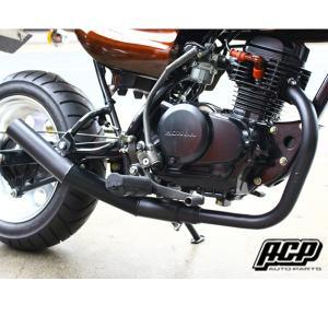 ACP APE50 エイプ50 エルサウンドショート管マフラー ブラック エーシーピー ホンダ garager30