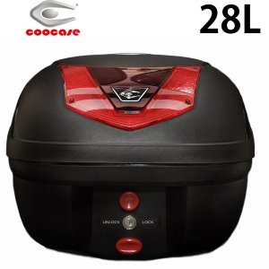 COOCASE S28  ヴィーボ ベーシック VIVO BASIC 無塗装ブラック 28L  トップケース テールボックス リアボックス クーケース|garager30