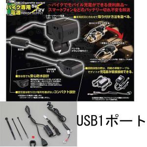 DAYTONA デイトナ バイク専用電源 USB 1ポート 93039(旧品番79000) ツーリングアクセサリー|garager30