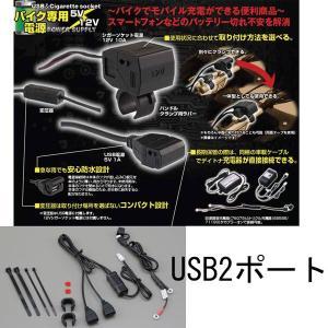DAYTONA デイトナ バイク専用電源 USB 2ポート 93040 (旧品番79001) ツーリングアクセサリー|garager30