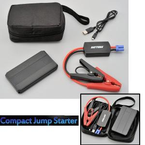 DAYTONA デイトナ コンパクトジャンプスターター 91716 小型携帯バッテリー ブラックヘアライン調|garager30