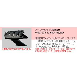 GIVI (ジビ) トップケース装着用フィッティング  ホンダ シルバーウイング400('01〜'07)用 スペシャルラックSR19 ( 40373 )|garager30