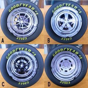 グッドイヤー レーシングタイヤ灰皿 ガラス ホイールデザイン|garager30