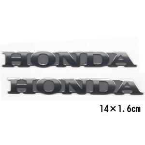 ホンダ タンクエンブレム ロゴ 2枚セット Mサイズ 純正 立体エンブレム HONDA メッキ|garager30