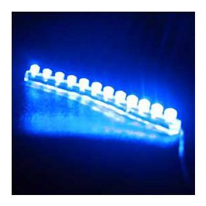 取り付けカンタン  光物、LEDワイヤー  百鬼 輝き 12cm ブルー B12|garager30