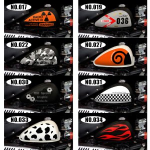 MDF ホンダ HONDA モンキー グラフィックキット タンクステッカー デカール|garager30