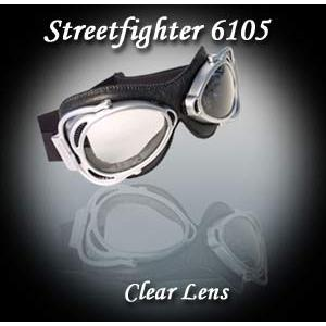 ナンニーニ  ストリートファイター(2眼式) ゴーグル  ブラック/クローム  イタリア製ゴーグル|garager30
