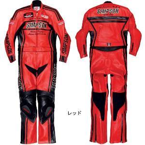 シンプソン SST-710 2PCレザースーツ|garager30