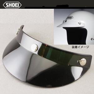 SHOEI  ヘルメットバイザー ブラック ホワイト ヒサシ ピーコック ショーエイ|garager30