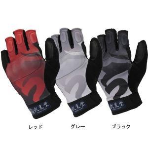 弐黒堂 WBGN-207 ハードライドハーフフィンガーメッシュグローブ「明王」 半指 WBGN207 和柄 garager30