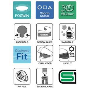 WINS ウインズ FFコンフォート  FF-COMFORT GTZ(ジーティーゼット) インナーバイザー付き 軽量コンパクトフルフェイス|garager30|03