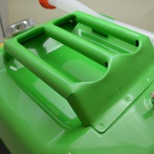 ガレージ・ゼロ ガソリン携行缶 黄緑色/イエローグリーン 横型 20L GZKK59×2缶 [蝶ネジ型エア調整ネジタイプ/消防法適合品]/亜鉛メッキ鋼板|garagezero|03