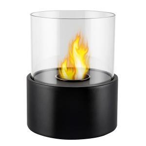 ガレージ・ゼロ バイオエタノール暖炉 円形  ブラック(屋内・屋外両用)
