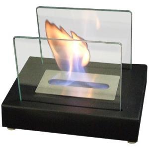ガレージ・ゼロ バイオエタノール暖炉 長方形  ブラック/スモール(屋内・屋外両用)