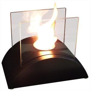 ガレージ・ゼロ バイオエタノール暖炉 山型  ブラック(屋内・屋外両用) garagezero