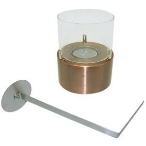 ヒロバ・ゼロ バイオエタノール暖炉 円形  ブロンズ スモール(屋内・屋外両用)