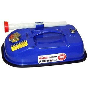ガレージ・ゼロ ガソリン携行缶 青色 横型 5L GZKK60[蝶ネジ型エア調整ネジタイプ/消防法適合品]/亜鉛メッキ鋼板|garagezero