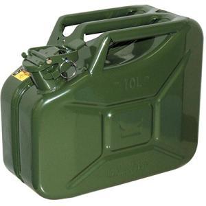 ガレージ・ゼロ ガソリン携行缶 ジェリ缶タイプ 10L GZKK66 [緑/UN規格/消防法適合品/スチール] garagezero