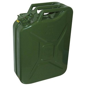 ガレージ・ゼロ ガソリン携行缶 ジェリ缶タイプ 20L GZKK67 [緑/UN規格/消防法適合品/スチール] garagezero