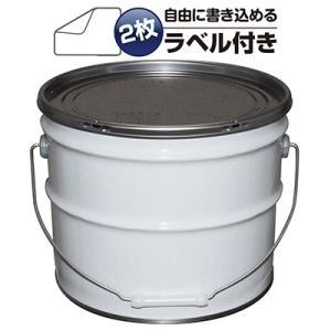 ガレージ・ゼロ 無地ペール缶 白 12L  オープン(グリースフタタイプ)/空缶|garagezero