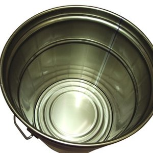 ガレージ・ゼロ 無地ペール缶 白 12L  オープン(グリースフタタイプ)/空缶 garagezero 02