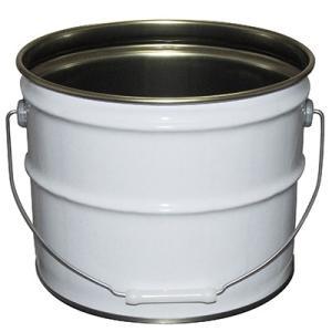 ガレージ・ゼロ 無地ペール缶 白 12L  オープン(グリースフタタイプ)/空缶 garagezero 03