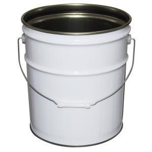 ガレージ・ゼロ 無地ペール缶 白 18L  オープン(グリースフタタイプ)/空缶|garagezero|03