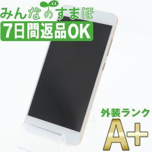UQモバイル P10 lite HWU32 パールホワイト SIMフリー 中古 本体 ほぼ新品 スマ...