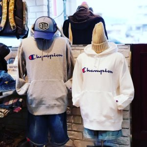Champion チャンピオン スウェットパーカー ブラック ネイビー ホワイト メンズ 長袖 無地 BASIC ベーシック C3-J117|garakuta-ga